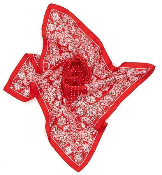Twill imprimé bandana bicolore - col 3 - rouge
