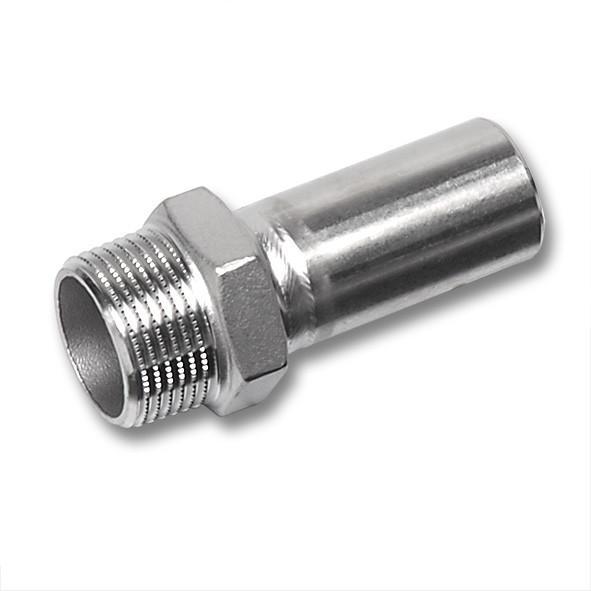 NiroSan® Male adaptor - NiroSan® Male adaptor, Premium stainless steel press fitting system