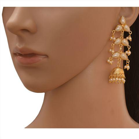 Traditional 18K Gold Plated Handmade Jhumki Earrings - Zephyrr Traditional 18K Gold Plated Handmade Jadau Hanging ...  sc 1 st  Europages & Traditional 18K Gold Plated Handmade Jhumki Earrings Zephyrr ...