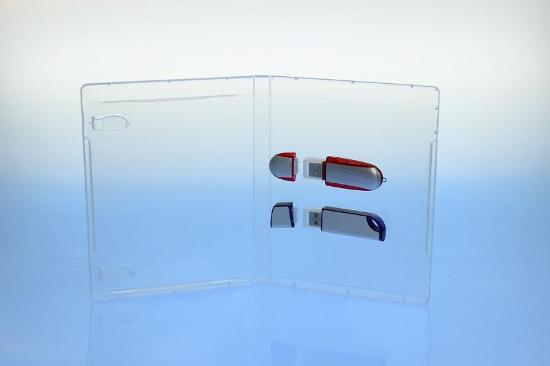 BluRay Box - für 2 USB-Stick's - transparent - - USB-Stick