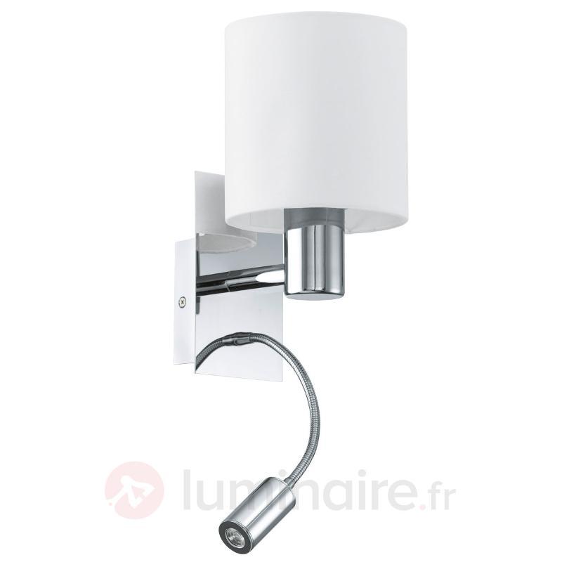 Applique moderne HALVA avec liseuse LED - Appliques LED