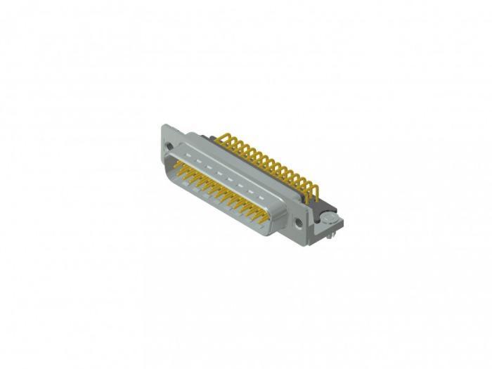 D-SUB High Density connector - D-SUB High Density connector, 44-pos.,  plug, solder cup, through hole