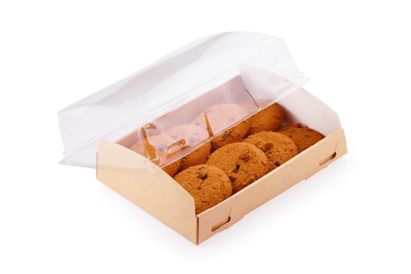 Show Box with transparent plastic cover - Kraft box with a transparent plastic cover