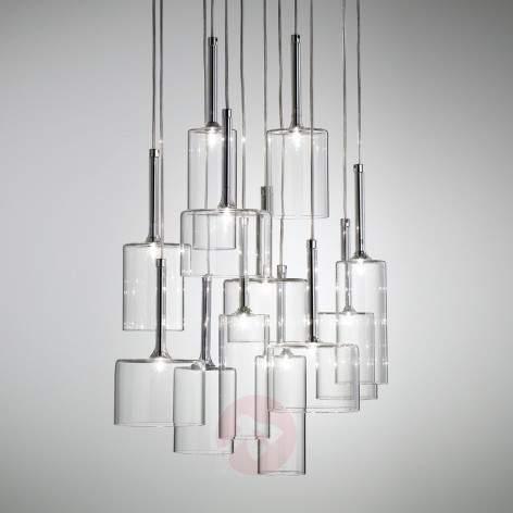Spillray three-bulb glass pendant light - indoor-lighting