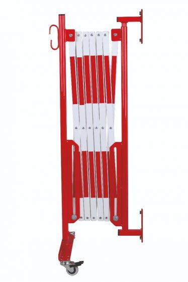 Barrière Extensible Rouge-blanc 3,6m Fixation Murale Et Rouleaux - Barrières De Sécurité