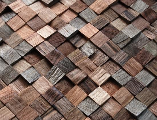 Natural Wood Mosaic Panels