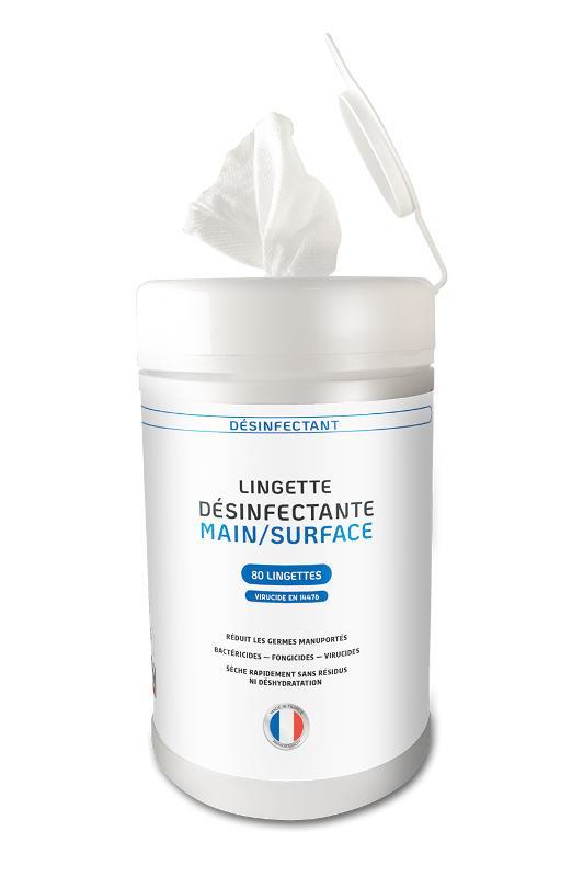 Lingette désinfectante main/surface - EX1014 - 80 Lingettes