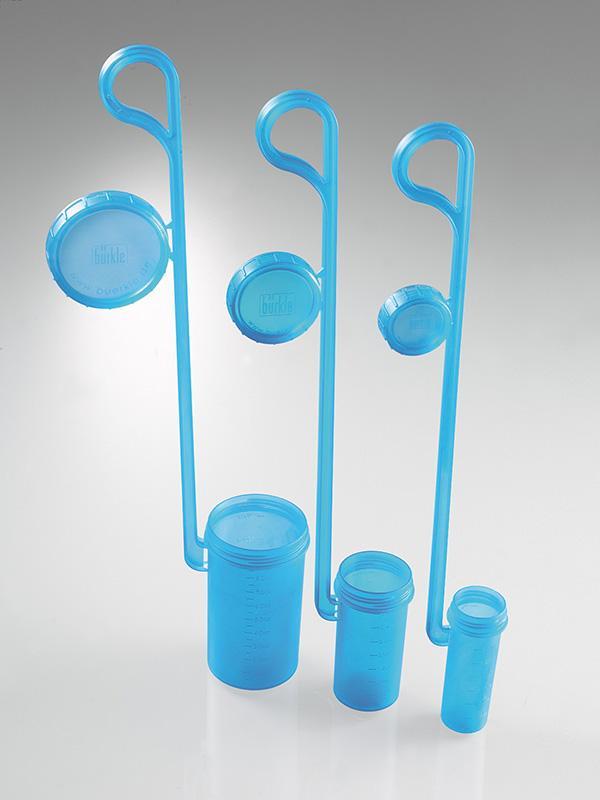 DispoDipper - Probentransport, für flüssige Medien, PP, blau transparent