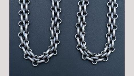catena placcata argento - null