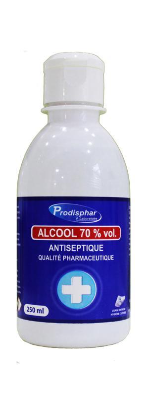Prodisphar Alcool 70 % vol 250 ml. -
