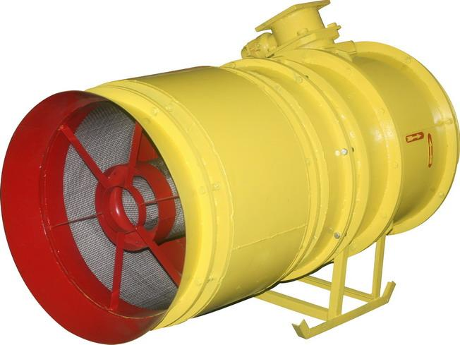 Ventilation equipment - Fans axial, for a roof, for mines, for smoke removal, radial.