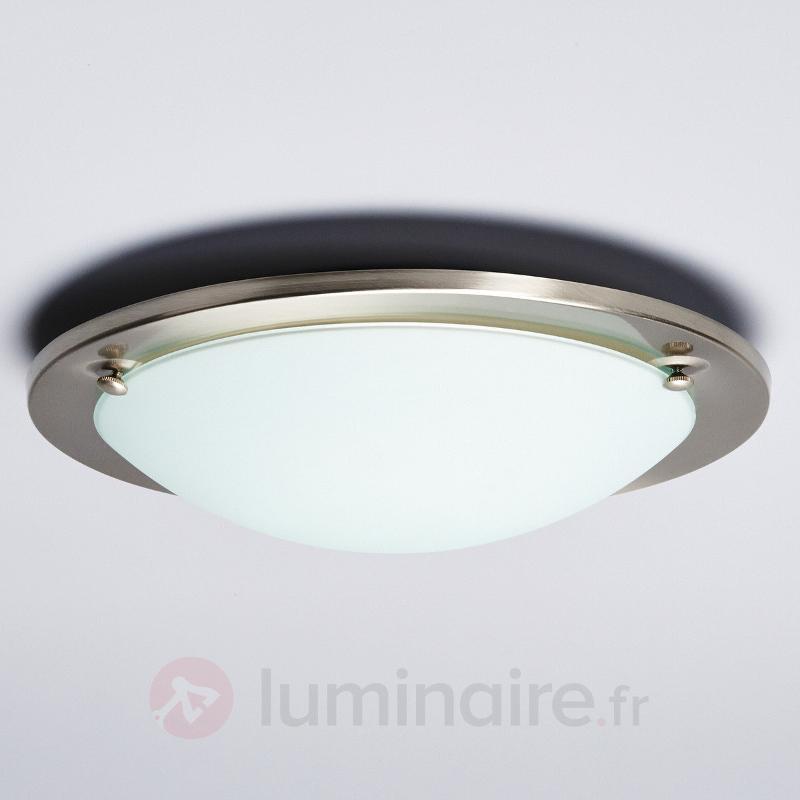 Plafonnier Rébecca au cadre en métal - Plafonniers chromés/nickel/inox