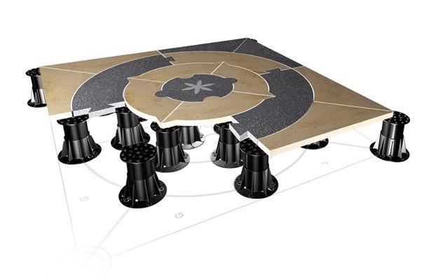 Kunststofdragers - Draagkrachtige kunststofdragers voor het verhogen van tegel- & plankenvloeren