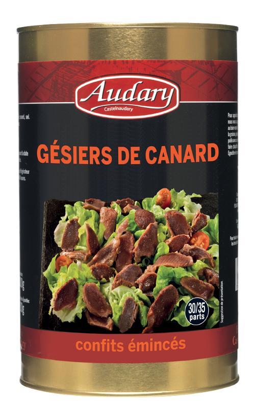 GESIERS DE CANARD CONFITS EMINCES BOITE 5/1 - Epicerie salée
