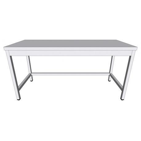 Table de travail centrale en inox  - Tables-armoires inox ouvertes