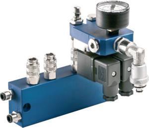 Flexibles microjet® Baukastensystem - 2-fach Zwischenverteiler mit aufgekoppeltem Steuerverteiler elektrisch.