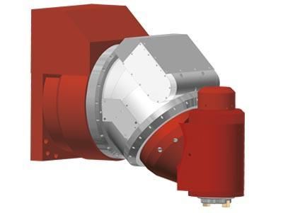 MILLING HEADS - Two-axis NC positioning milling head KFU-NC3/45/X
