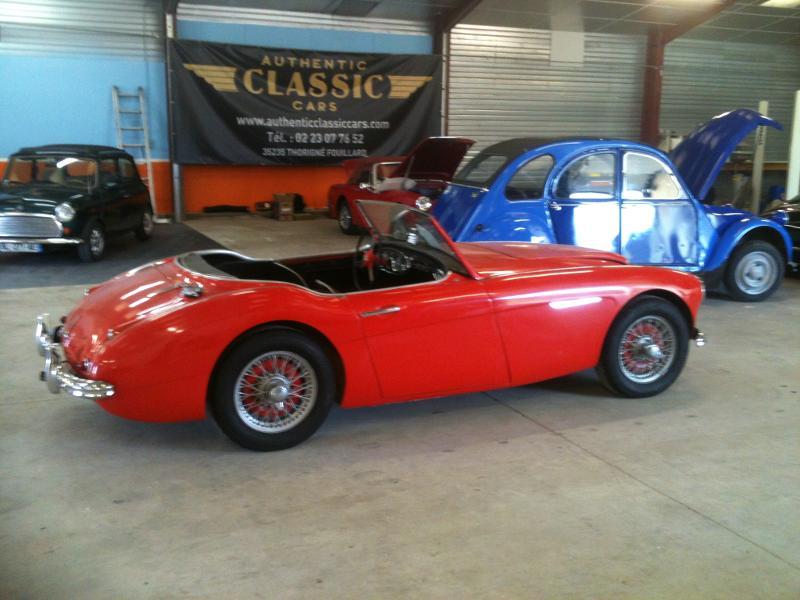 voiture de collection v hicule ancien austin healey 3000 1961 authentic classic cars france. Black Bedroom Furniture Sets. Home Design Ideas