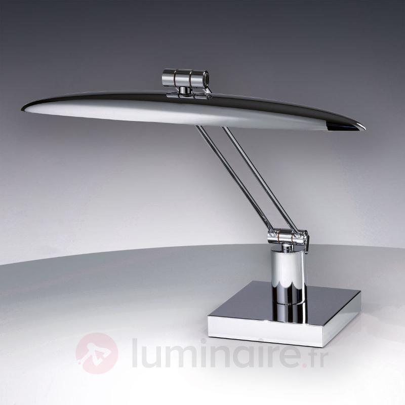 Liseuse LED luxueuse Anabella chrome brillant - Lampes de bureau LED