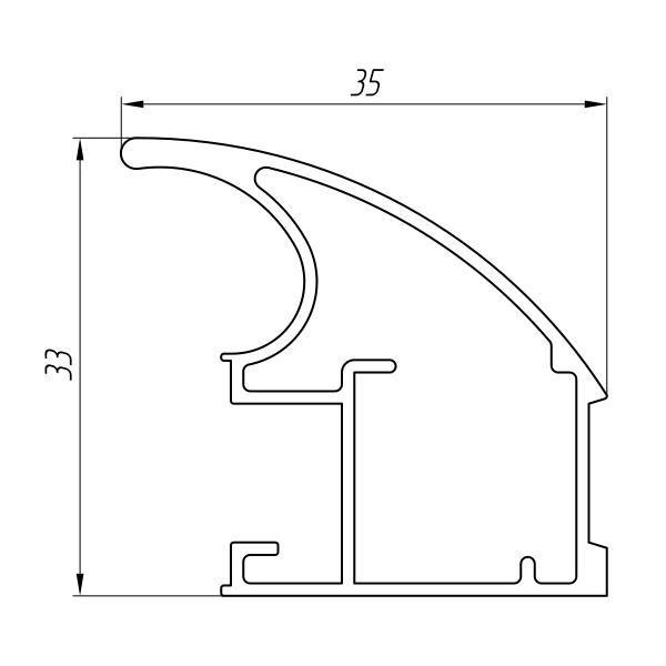 Aluminum Profile For Wardrobes Ат-3226 - Aluminum profile for wardrobes