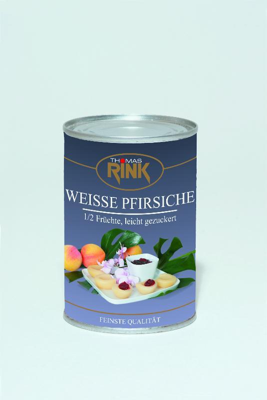 Weiße Pfirsiche, 425 ml, leicht gezuckert