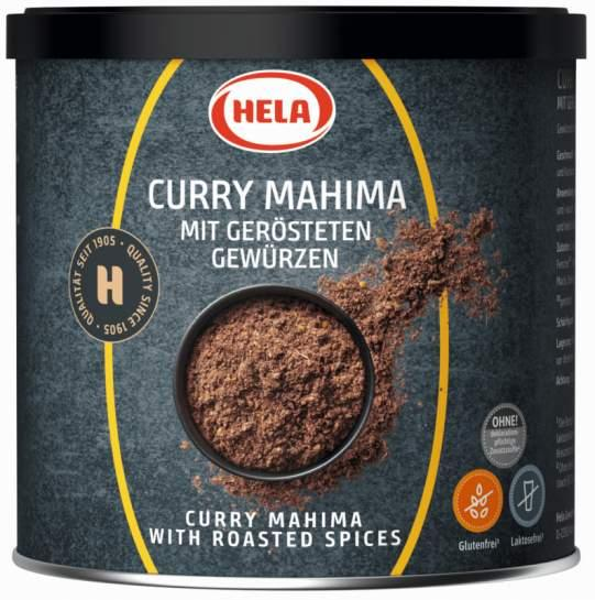 Hela Curry Mahima 300g. Spice mixture for curry dishes - Spice blend for fuity-mild curry dishes, soups and sauces, light-coloured meats.