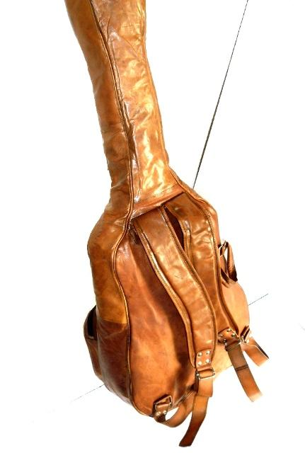 Leather Guitar Backpack - Leather Backpack for Guitar