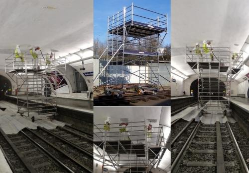 Transportation and Silent Rails (QUERAIL) - Scaffold running on Track