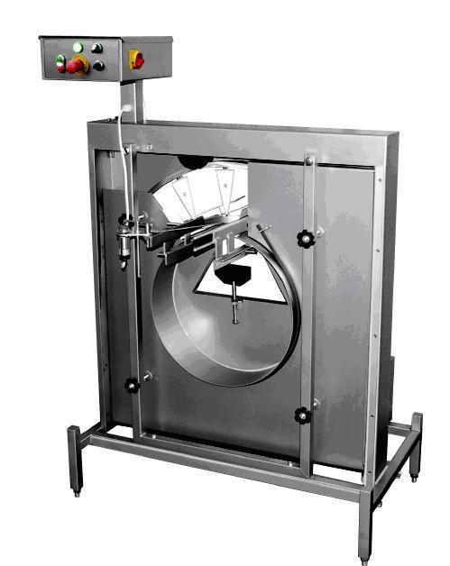 Ausblasmaschine für fabrikneue Gläser, Flaschen und Dosen