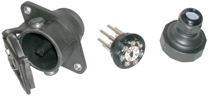 EBS-socket 7-pol. screwcontacts - EBS with screw-contacts