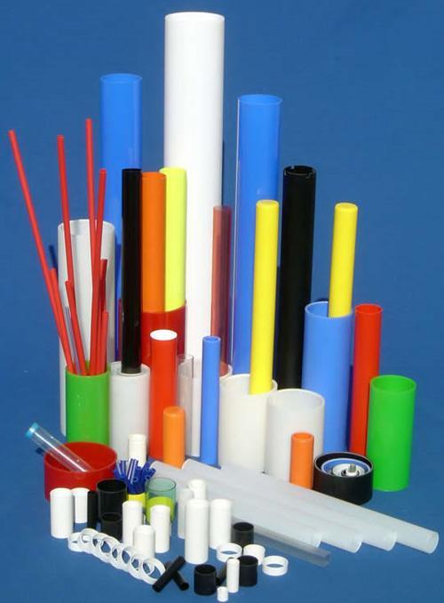 Mâts PLV, présentoirs, étagères, tubes manchonnés, manchons, supports en plastiq - null