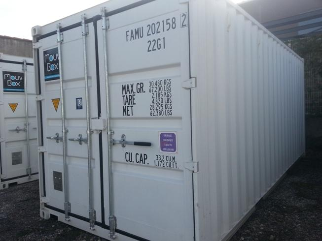 Container 20′ DRY 1er voyage « neuf »