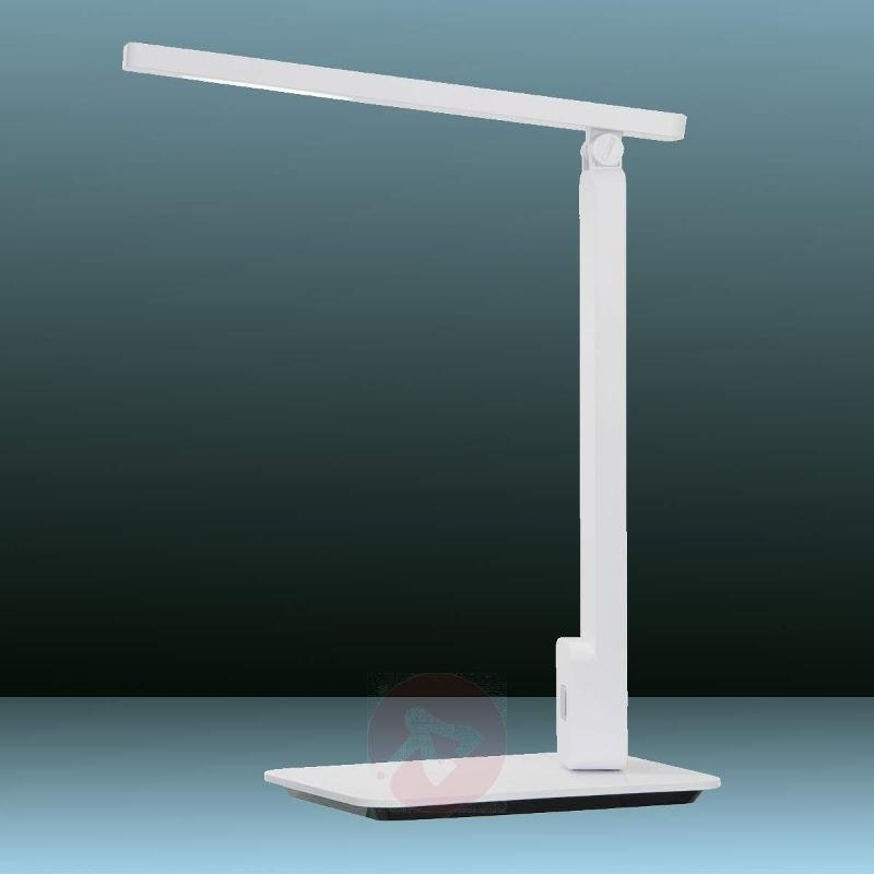 Geer LED Table Light with Touch Dimmer White - Table Lamps
