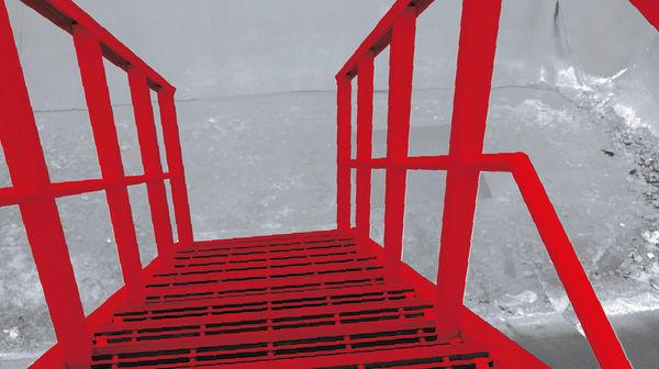 Stairway - stairways completely corrosion resistant from glassfibre profiles
