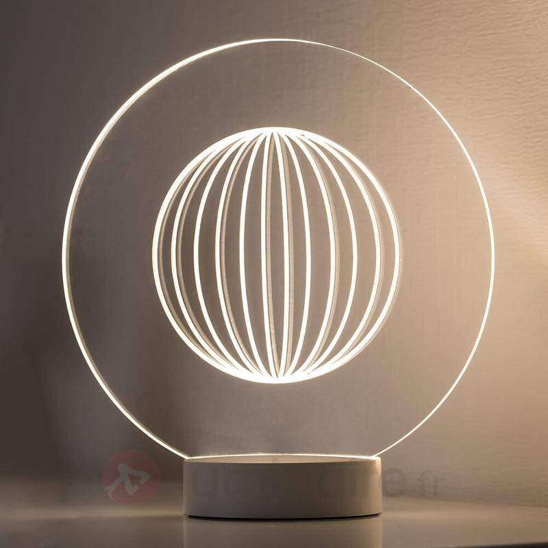 Lampe à poser LED Yarn avec effet 3D - Lampes à poser LED
