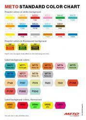 Labels - METO Standard Color Chart for labels