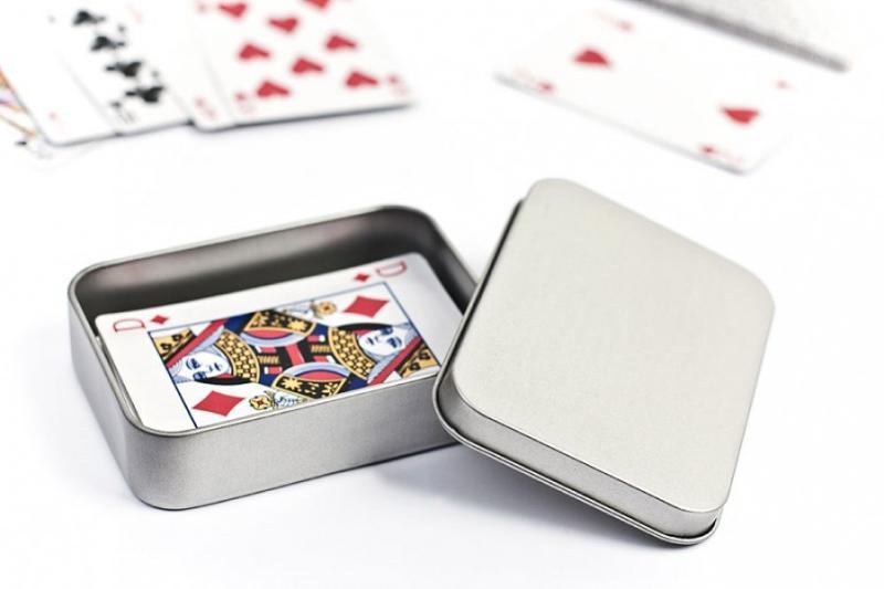 Metalldose für Spielkarten - Spielkartenverpackungen