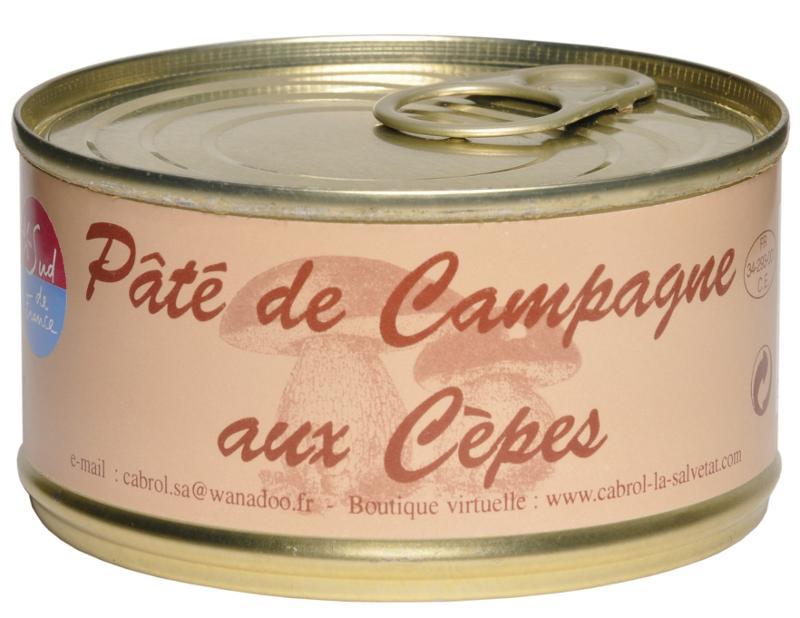 Pâté de Campagne aux Cèpes (conserve) - Epicerie salée