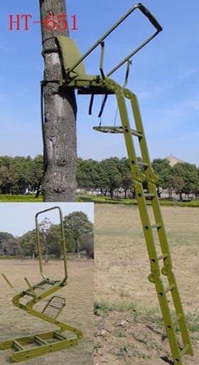 Hunting tree stand seat - aluminum folding tree stand seat