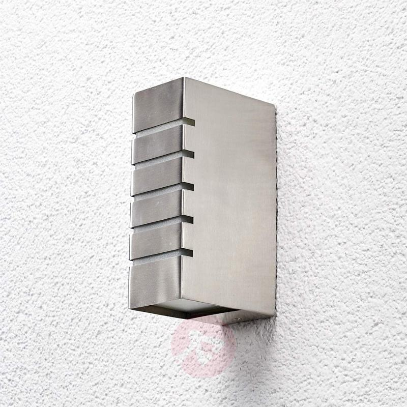 Square outdoor wall light Amelia, stainless steel - stainless-steel-outdoor-wall-lights