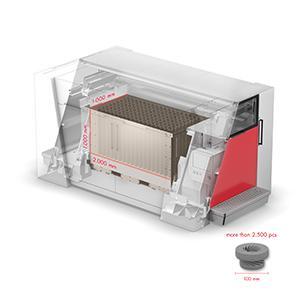 VX2000 - Build space LxWxH 2,000 x 1,000 x 1,000 mm