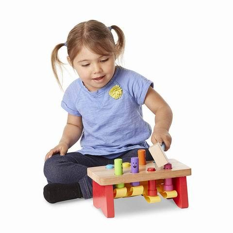 Creative colorful hammer knock educational game wooden toy - Toy