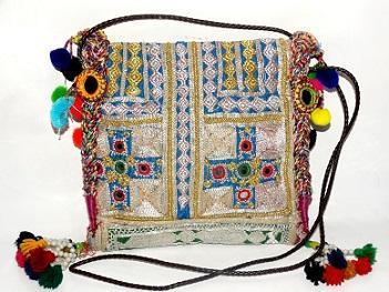 Indian Handmade Banjara Zari Bag  -