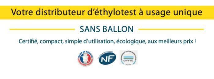 Ethylotest chimique sans ballon écologique - Alcootest chimique sans ballon écologique