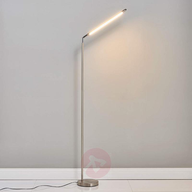 Minimalist LED floor lamp Jabbo for reading - Floor Lamps