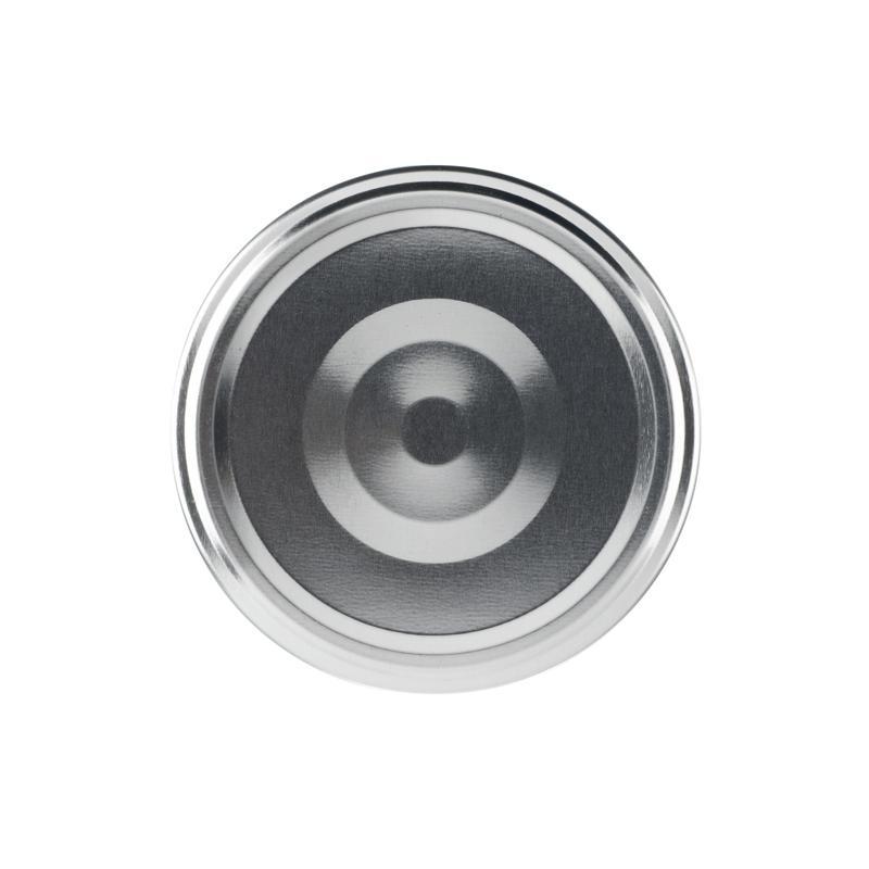 100 Capsules TO 58 mm argent stérilisables avec flip - ARGENT