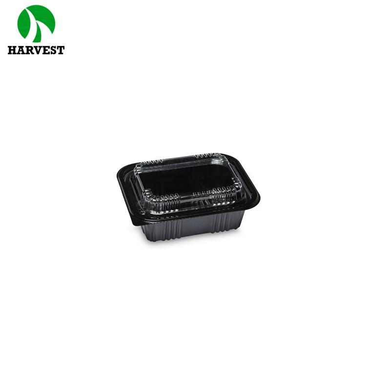 Small Plastic Box Black Blister Food To Go Packaging Sushi Box - Sushi Trays