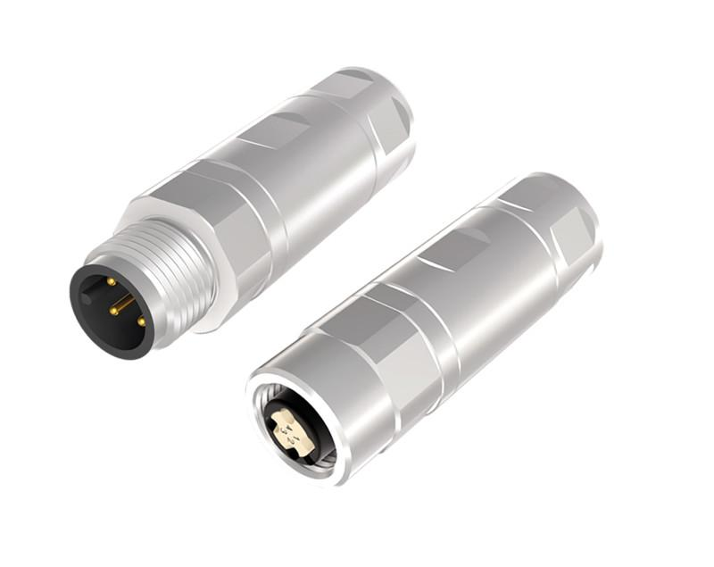 M12x1 Rundsteckverbinder, konfektionierbar, Crimpanschluss - M12x1 Rundsteckverbinder, konfektionierbar, Crimpanschluss, A-codiert