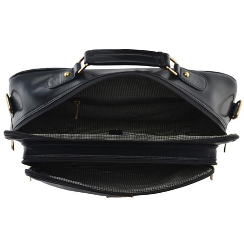 Leather Office Bag For Men - Hammer Coal Leatherette Men Office Bag Multipurpose Bag Blue