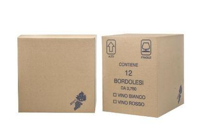 CARTONE BORDOLESE 750 ML 12 PZ - Cartoni e Scatole